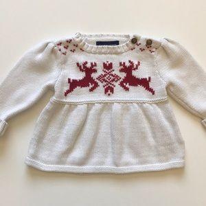 Ralph Lauren Christmas sweater reindeer 9 months
